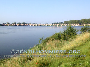 XIème siècle, l'un des plus anciens ponts sur la Loire - XIth century, one of the oldest bridges on the Loire river
